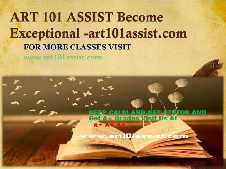 Art 101 assist become exceptional art101assist com