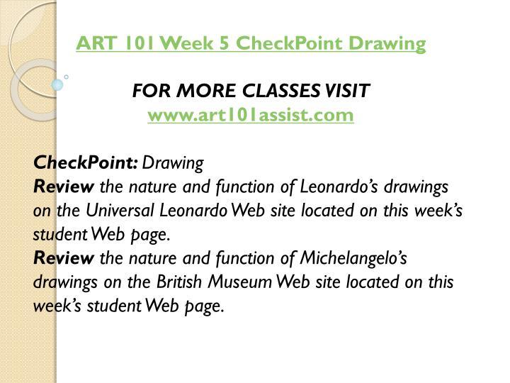 ART 101 Week 5