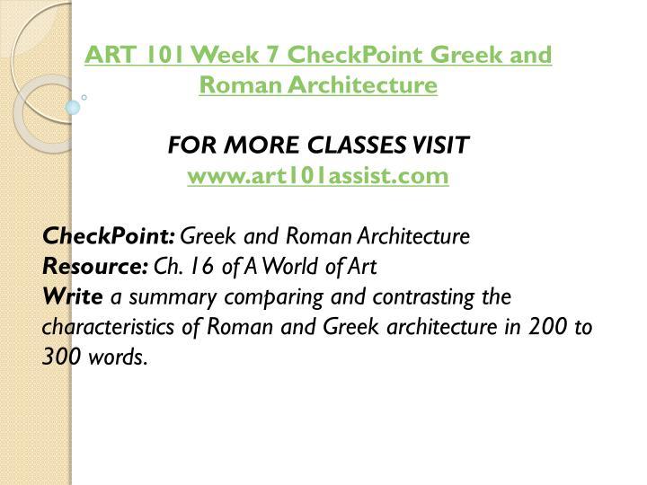 ART 101 Week 7