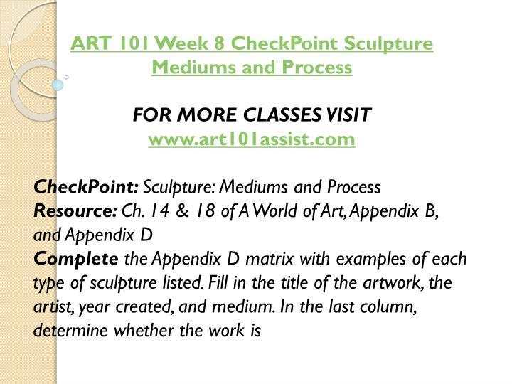 ART 101 Week 8