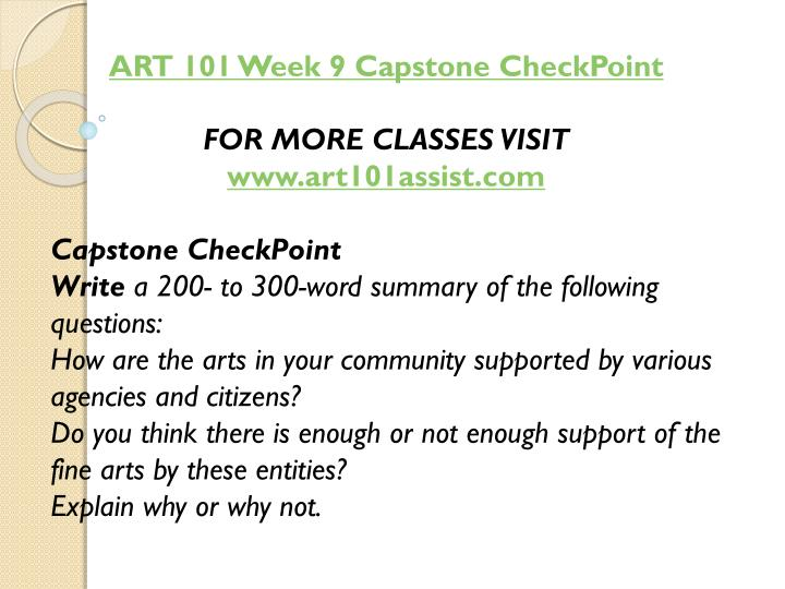 ART 101 Week 9 Capstone
