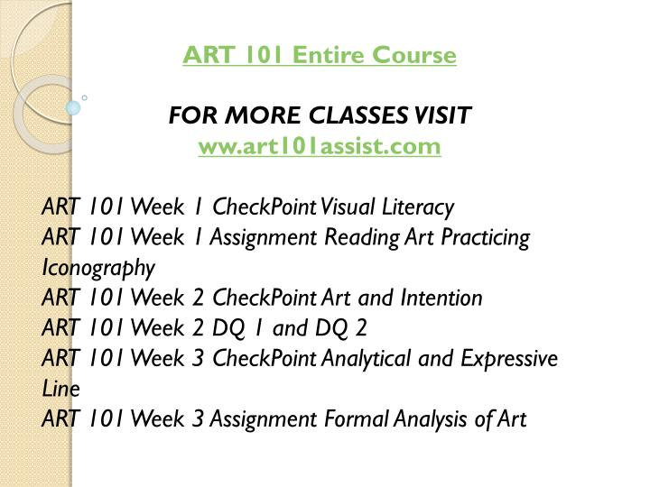 ART 101 Entire Course