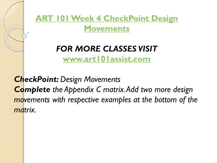 ART 101 Week 4