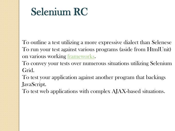 Selenium RC