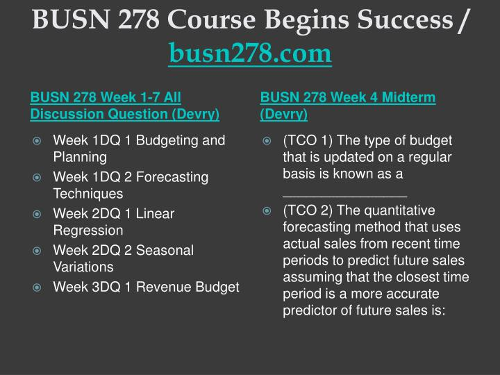 Busn 278 course begins success busn278 com2