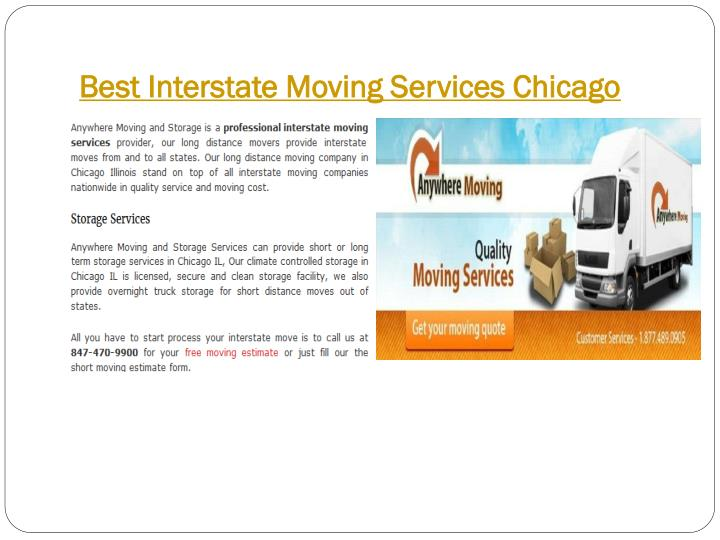 Best Interstate Moving Services