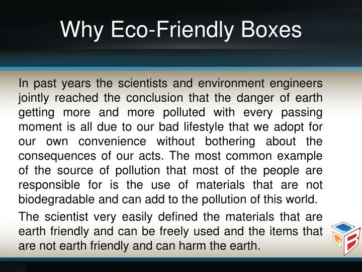 Why Eco-Friendly Boxes