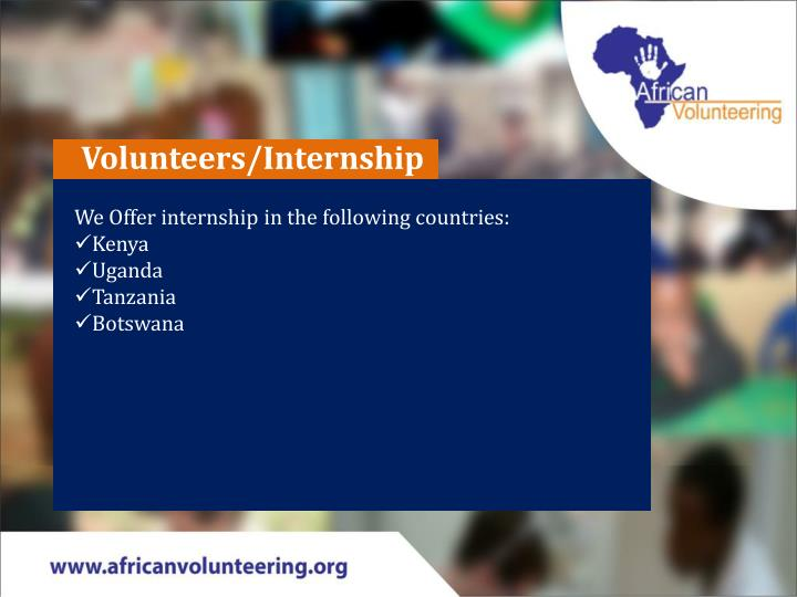 Volunteers/Internship