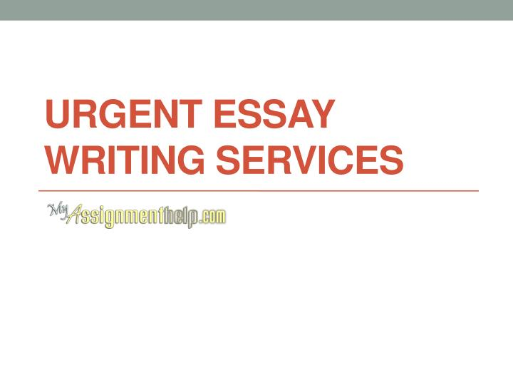 Urgent essay writing services