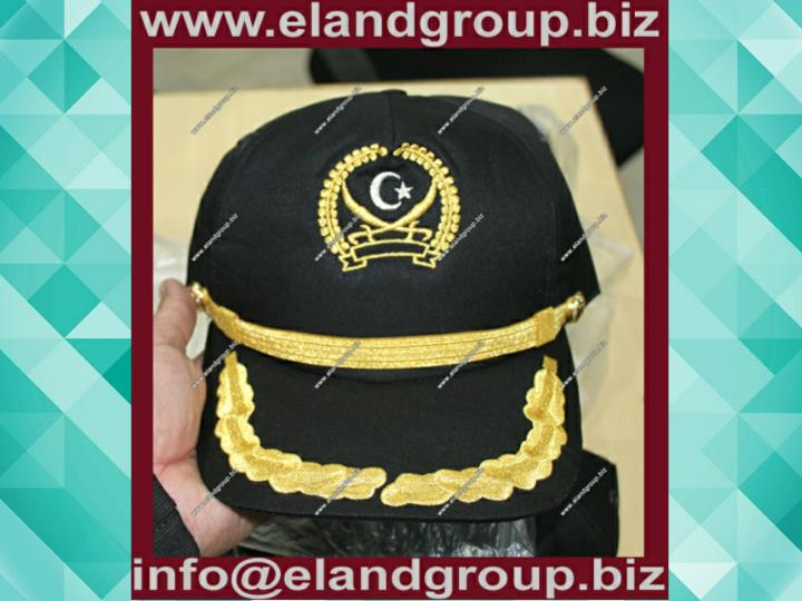 Wholesale custom black military uniform peaked cap