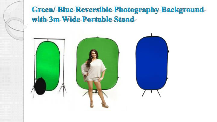 Green/ Blue Reversible Photography Background with 3m Wide Portable Stand