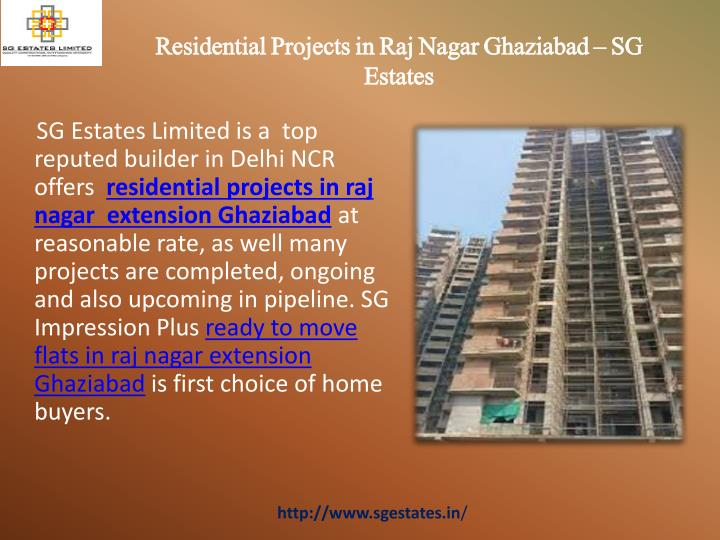 Residential projects in raj nagar ghaziabad sg estates
