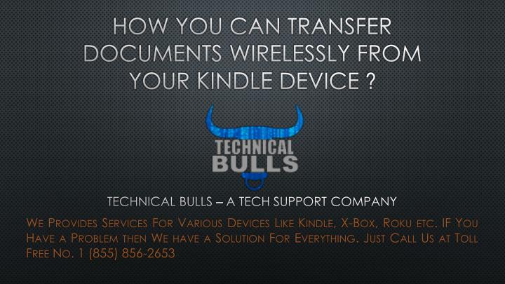 How you can transfer documents wirelessly from your kindle device
