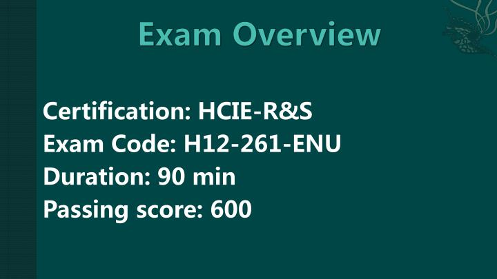 Certification: HCIE-R&S
