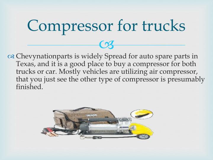 Compressor for trucks