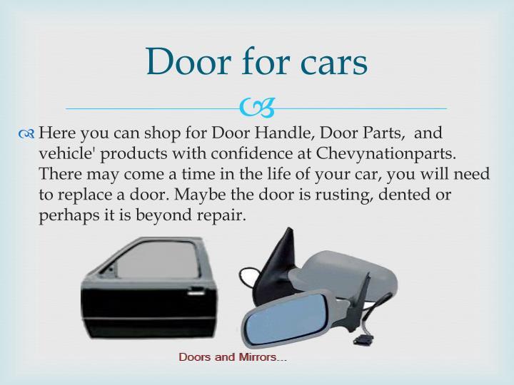 Door for cars