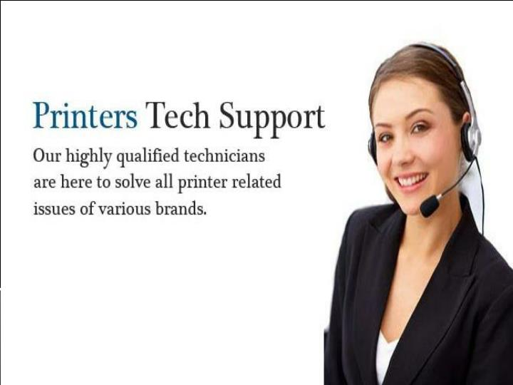 Online tech support for printer