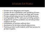 solutions for printer