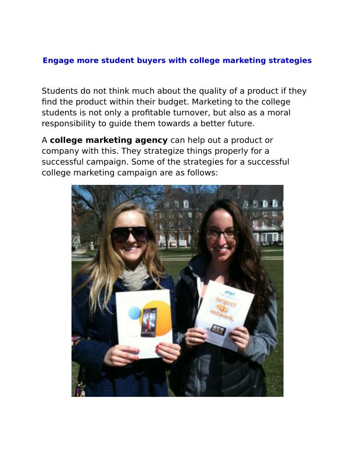 Engage more student buyers with college marketing strategies
