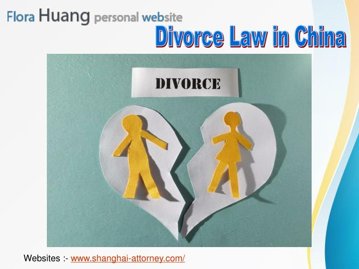 Divorce Law in China