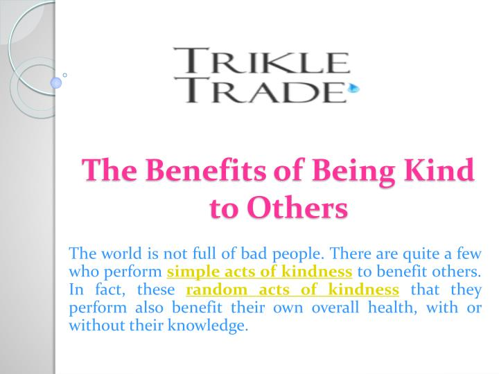The benefits of being kind to others