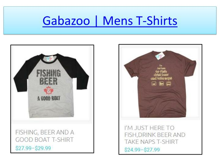 Gabazoo mens t shirts