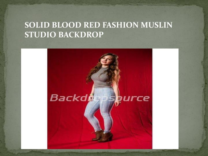SOLID BLOOD RED FASHION MUSLIN STUDIO BACKDROP