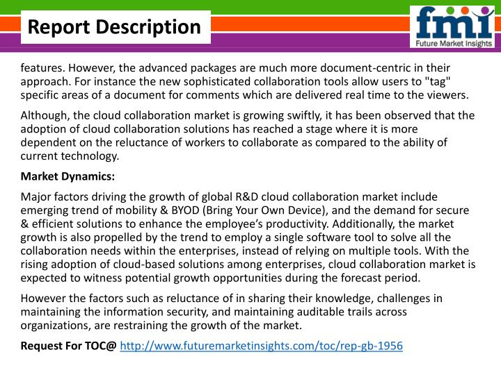 forecast of the global document centric collaboration $2,50000 | technavio's analysts forecast the global document-centric collaboration market to grow at a cagr of 868 percent over the period 2013-2018 one of the key factors contributing to.