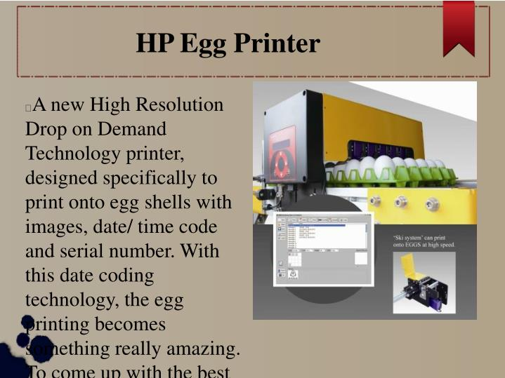 HP Egg Printer