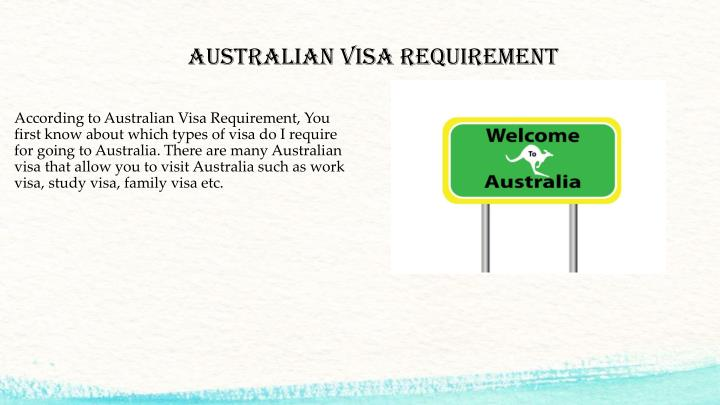 Australian Visa Requirement