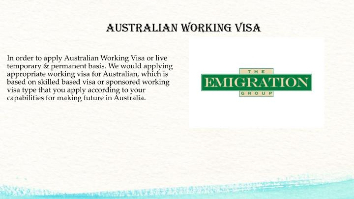 Australian Working Visa