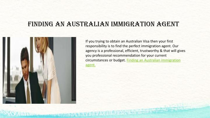 FINDING AN AUSTRALIAN IMMIGRATION AGENT