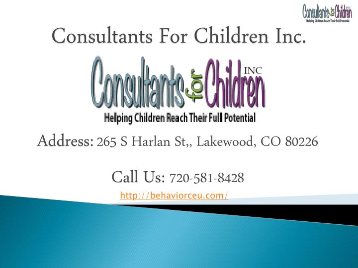 Consultants For Children Inc.