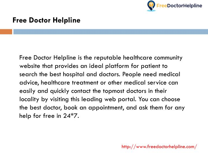 Free Doctor Helpline