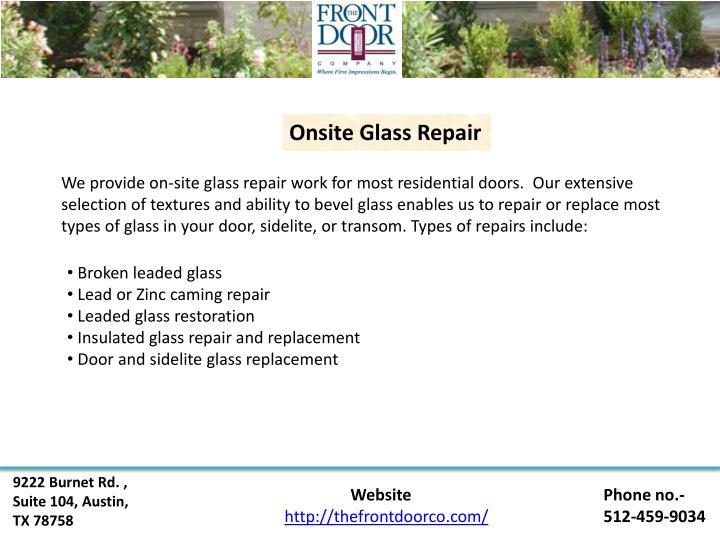 Onsite Glass Repair