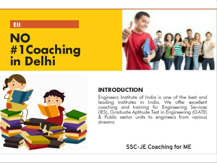 SSC-JE Coaching for ME