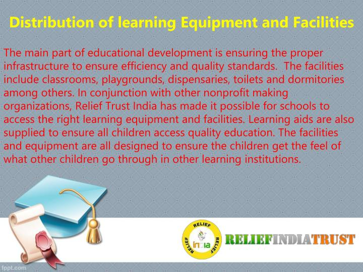 Distribution of learning Equipment and Facilities