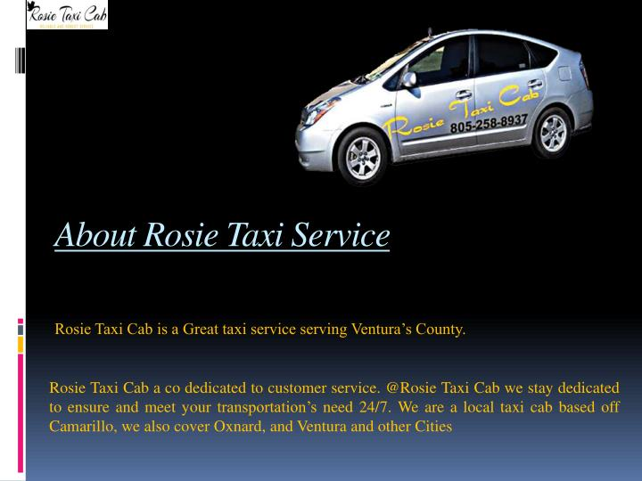 About Rosie Taxi Service