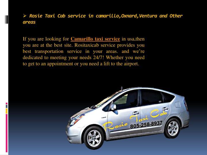Rosie Taxi Cab service