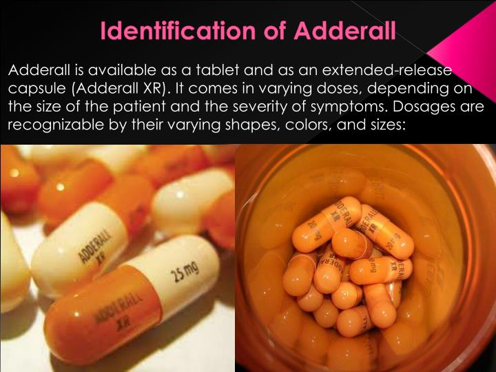 Identification of adderall