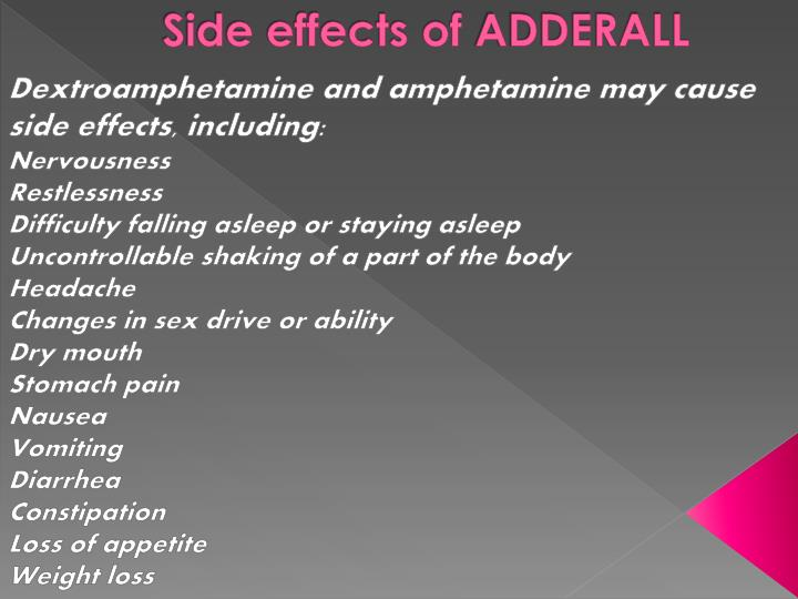 Side effects of
