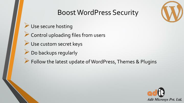 Boost WordPress Security