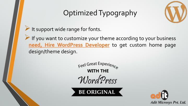 Optimized Typography