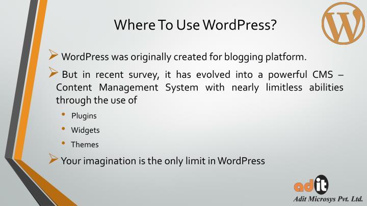 Where To Use WordPress?