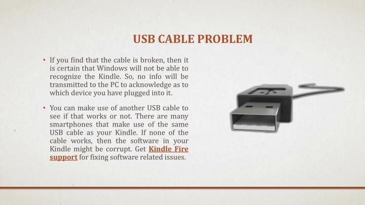 USB cable problem