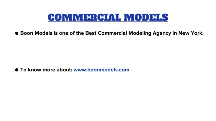 COMMERCIAL MODELS
