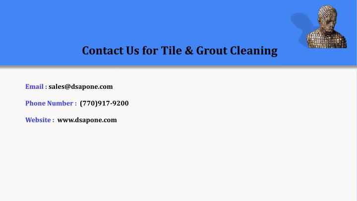 Contact Us for Tile & Grout Cleaning