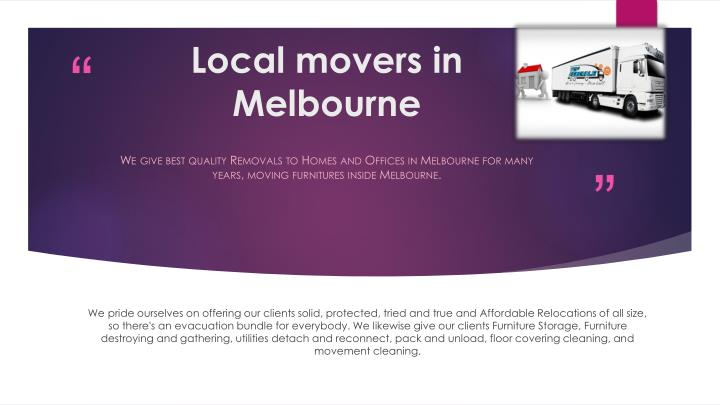 Local movers in