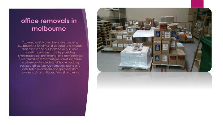 office removals in melbourne