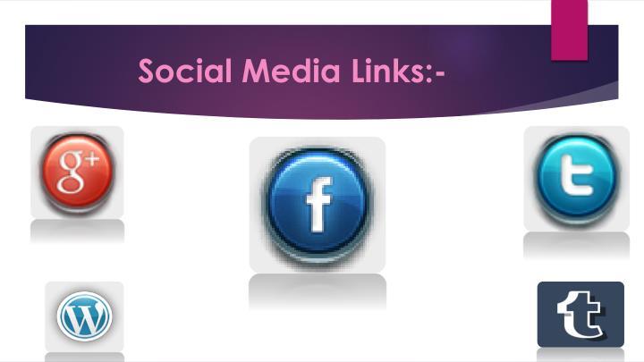 Social Media Links:-